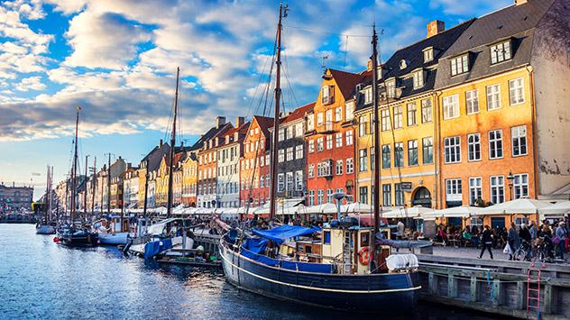 Denmark Nyhavn location boats and water